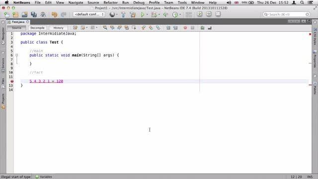 ۴- بازگشت یا Recursion در جاوا Java