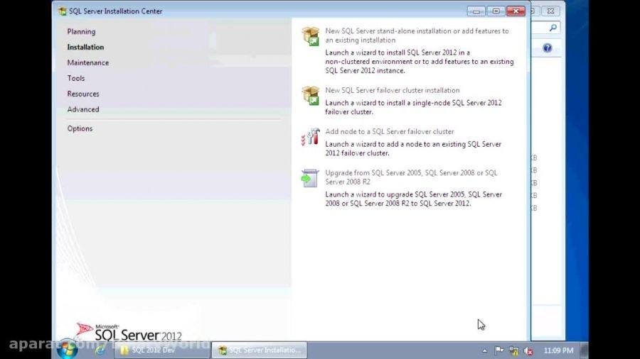 آموزش گام به گام نصب SQL Server 2012