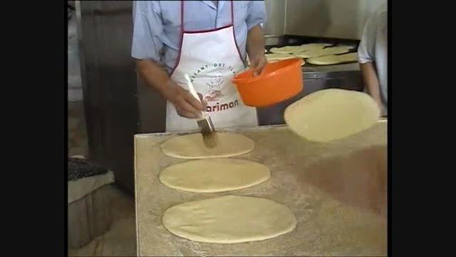 پخت نان بربری با دستگاه پرتابل حرارت غیر مستقیم