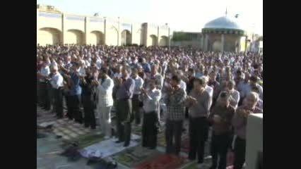 فیلم اقامه نماز عید فطر 94 در شهر نایین