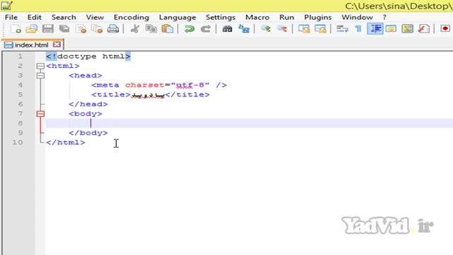 آموزش html و css مقدماتی yadvid.ir - جلسه سوم