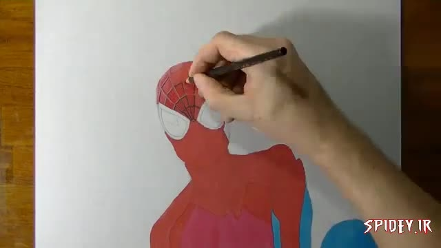 چگونه نقاشی مرد عنكبوتی بكشیم؟