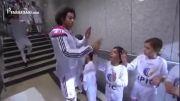 خوش و بش رونالدو، مارسلو و په په با کودکان در تونل