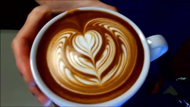طراحی زیبای قهوه لاته