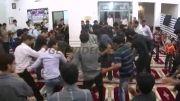 سینه زنی در شب شهادت امام علی(ع) در مسجد محله خمینی آباد