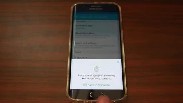 سنسور اثر انگشت Samsung Galaxy S6 Edge