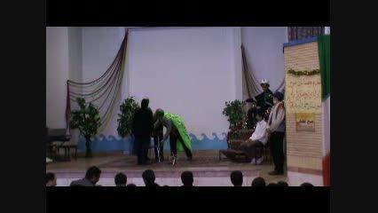 اجرای گروه تئاتر مدرسه شاهد آیت اله خامنه ای