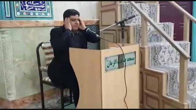 تلاوت آقای هادی قدرتی در مسجد صاحب الزمان (عج) ظهیر آبد