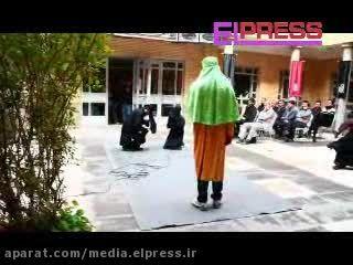 تک خوانی زنان در مراسم تعزیه دانشگاه هنر تبریز