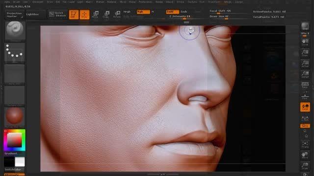 Sculpting Human Skin in ZBrush