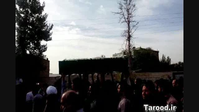 تشییع پیکر شهید مدافع حرم در دماوند
