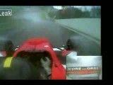 فرار از تصادف با سرعت ۲۴۱ کیلومتر بر ثانیه توسط راننده فرمول دو