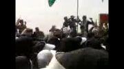 تشییع شهدای گمنام که از مرز شلمچه وارد شدند