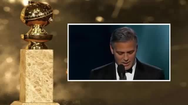 صحبت های جورج کلونی بعد از دریافت جایزه گلدن گلوب 2015
