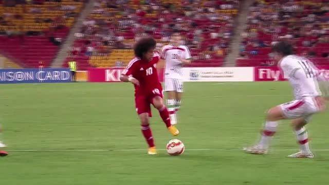 دریبل کردن بازیکنان ایران توسط عمر عبدالرحمن