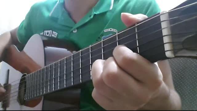 اجرای آهنگ حس تلخ رامین بی باک با گیتار