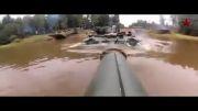 عبور تانک T-90 روسی از زیر آب