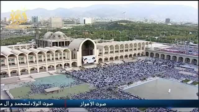 تصاویر زیبا از لحظه برگزاری نماز عید فطر در تهران 1394