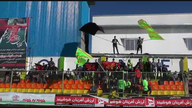 فیلم حواشی بازی خونه به خونه و فولاد یزد تشویق 24نوروزی