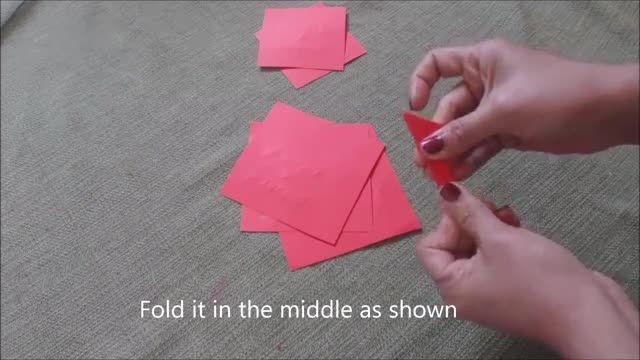گل کاغذی بساز