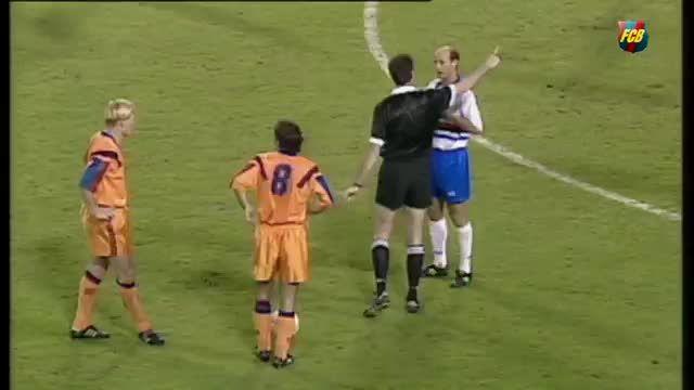 گل خاطره انگیز رونالد کومن برای بارسلونا در سال 1992