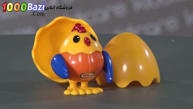 اسباب بازی کودک مرغ و تخم مرغ تولو