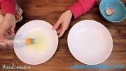 آموزش آشپزی و شیرینی پزی - جدا کردن زرده و سفیده تخم مرغ