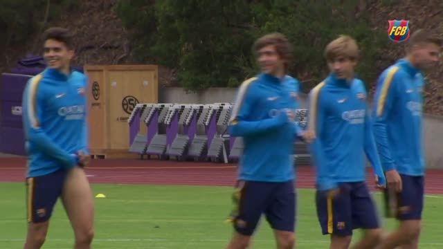 تمرینات سخت بارسلونا در سانفرانسیسکو (2015.07.24)