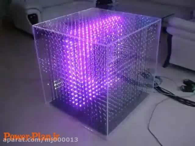 طراحی یک مکعب LED  نمایش متون سه بعدی