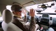 تست خودروی بدون راننده ی گوگل توسط یک نابینا