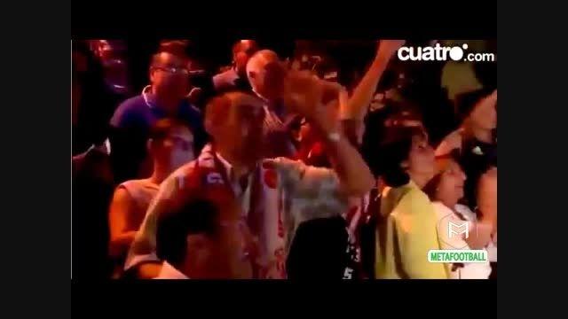 اعتراض به رونالدو با فریاد مسی،مسی و جواب رونالدو