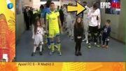 فقط نگاه کن!...حرکت زشت و ناپسند دروازه بان رئال مادرید