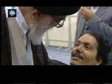 دیدار  رهبر معظم انقلاب اسلامی حضرت آیت الله خامنه ای با جانبازان در حسینیه ی امام خمینی(ره)