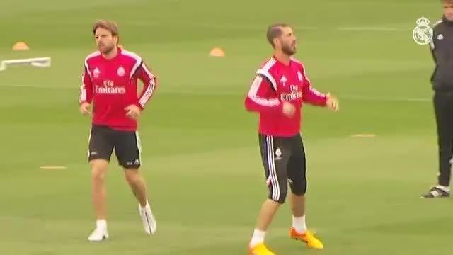 تمرینات صبح امروز رئال مادرید (21 فروردین 94)