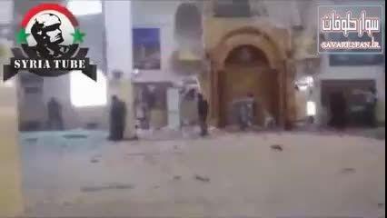 کشته شدن تعداد زیادی داعشی با گلوله تانک ارتش سوریه!