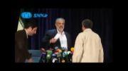 افشاگری دکتر قدیری ابیانه علیه رحیم مشایی و بر هم زدن جلسه توسط حامیان مشایی.