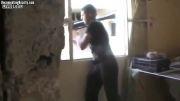 سوریه - هدف قرار گرفتن سر  یک تروریست توسط تک تیرانداز ارتش سوریه
