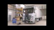 6. کامیون مرسدس بنز اکتروس 2013 _ شیوه تمیز کردن شیشه ها