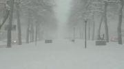 بارش زیبا و شدید برف در سوئد