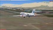 فرود fokker 100 آسمان ایر در فرودگاه مهرآباد