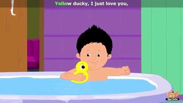 شعر و ترانه کودکانه انگلیسی من با اردکم حمام میرم