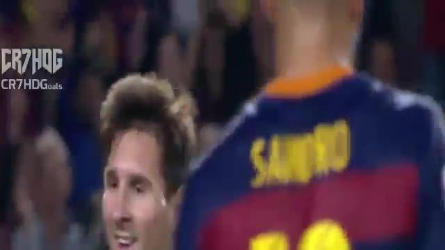 گل دوم مسی به لوانته (گل چهارم بارسلونا)
