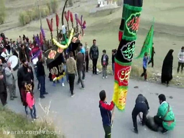 مراسم دسته روی اهالی محترم روستای کام به روستای خجیرکلا