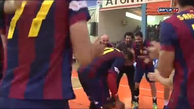 جشن قهرمانی تیم هندبال بارسلونا