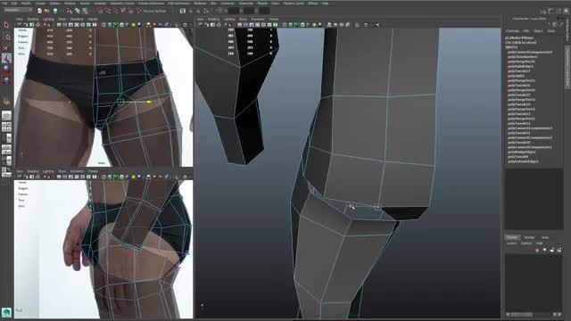 مدلسازی ٣ بعدی بدن انسان