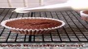 روزمنو - طراحی گل با ماسوره های 1M و 2D روی کیک