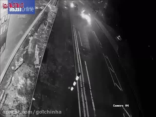 فرار راننده مرسدس بنز پس از تصادف (فیلم گلچین صفاسا)