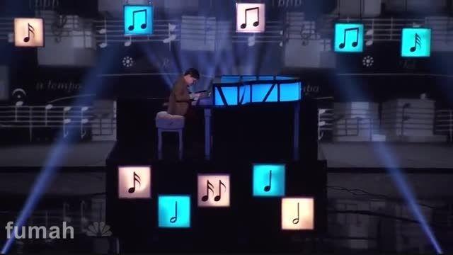 یک استعداد واقعی پیانو در american got talent