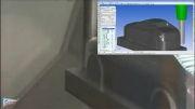 ماشین کاری بدنه فلزی ماکت خودرو در سی ان سی پنح محوره