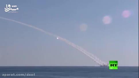 اولین حمله موشکی زیردریایی روسی به داعش+لحظه اصابت